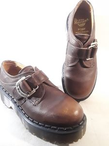 Dr Martens 8314 Buckle Brown Creeper Shoes Size 6